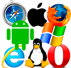 Windows, Mac, Linux, Android, navegadors